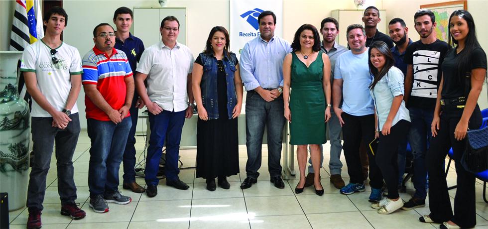 Alunos de Ciências Contábeis da REGES visitaram a Receita Federal de Presidente Prudente